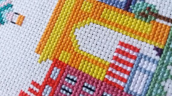 Paris Modern Cross Stitch Pattern Pdf Instant Download Pinterest