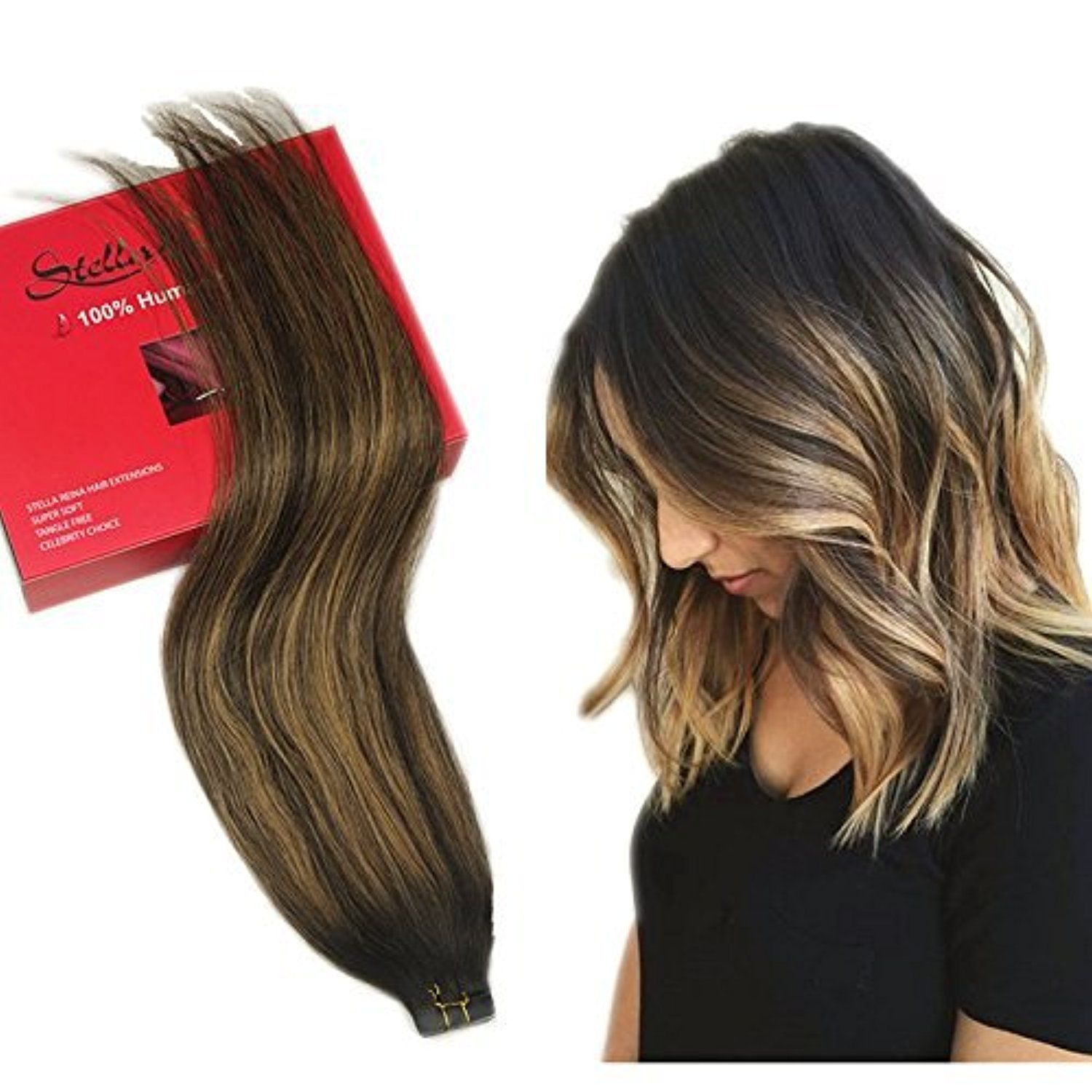 Stella Reina 50g 20pcs Brunette Ombre Balayage Blonde Highlights