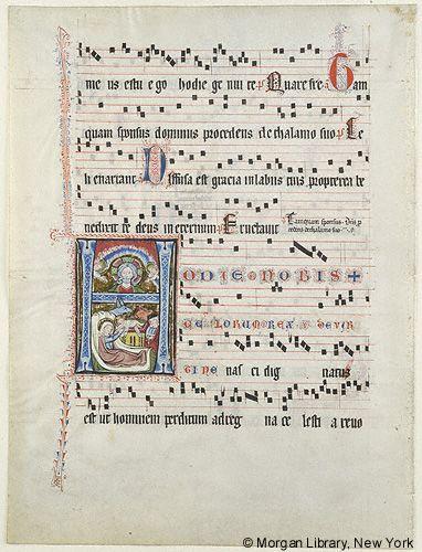 Regensburg Antiphonary single leaves. Regensburg, Germany, ca. 1310.  MS M.870.1