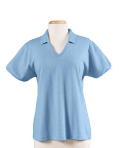 626cb282 Jerzees Ladies' 5.6 oz. 50/50 Jersey Knit Polo with SpotShield, Light Blue  New, S. Fabric Content-Cotton/Polyester Blend. Fashion-Side Seam. Cotton. J  Navy.