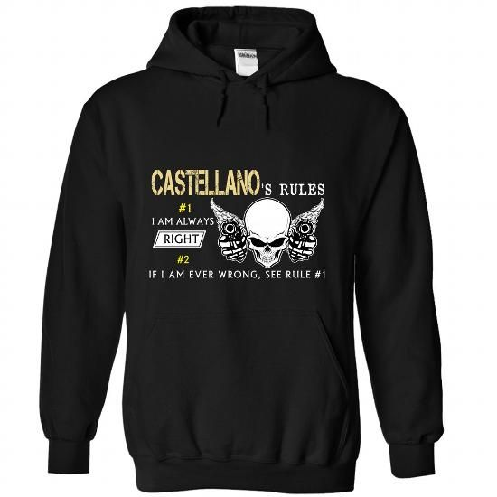 7 CASTELLANO Rules - #mothers day gift #personalized gift. HURRY => https://www.sunfrog.com//7-CASTELLANO-Rules-7893-Black-Hoodie.html?68278