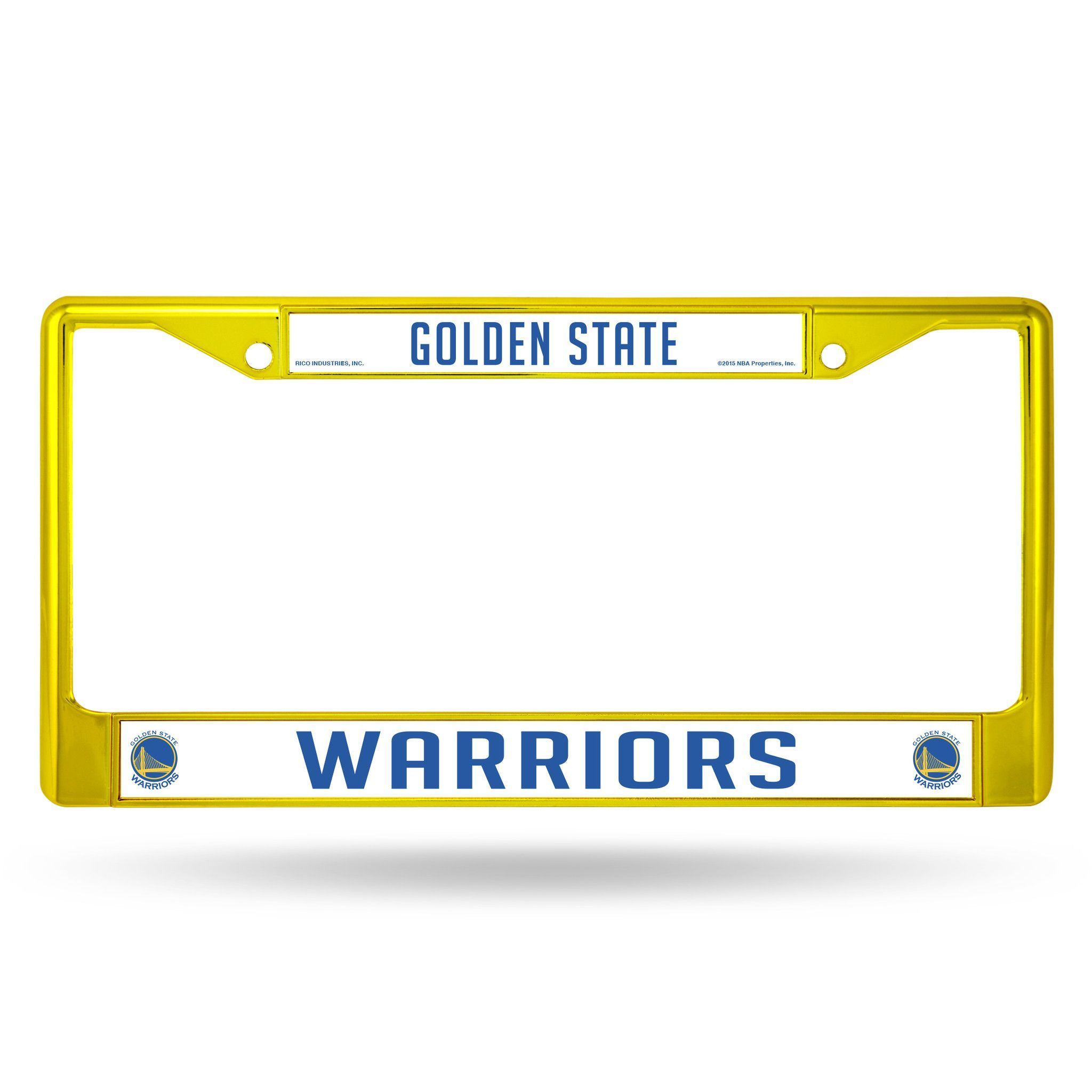Golden State Warriors Color Chrome Metal License Plate Frame NEW Free Shipping! Gold