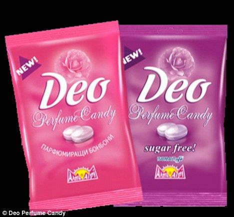 "A new strange invention, Deo Perfume Candy, the edible deodorant, promises to keep you ""sweet smelling"" for hours.  An American company called Deo Perfume Candy has created a type of sweet that releases a lingering rose scent through the pores of your skin."