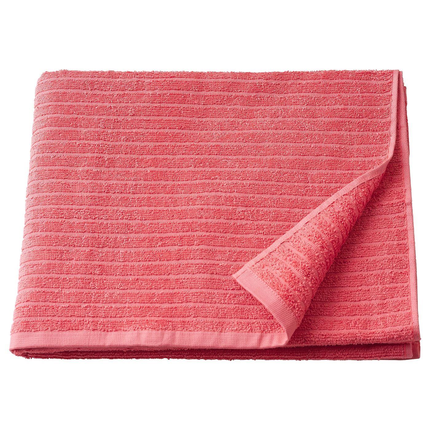 Vagsjon Bath Towel Light Red 28x55 70x140 Cm Bath Towels