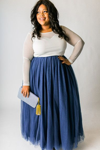 909c9ee30b Plus Size Clothing for Women - Long Tutu - Navy - Society+ - Society Plus -  Buy Online Now! - 1