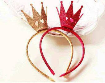 Queen of Hearts Headband Crown #crownheadband