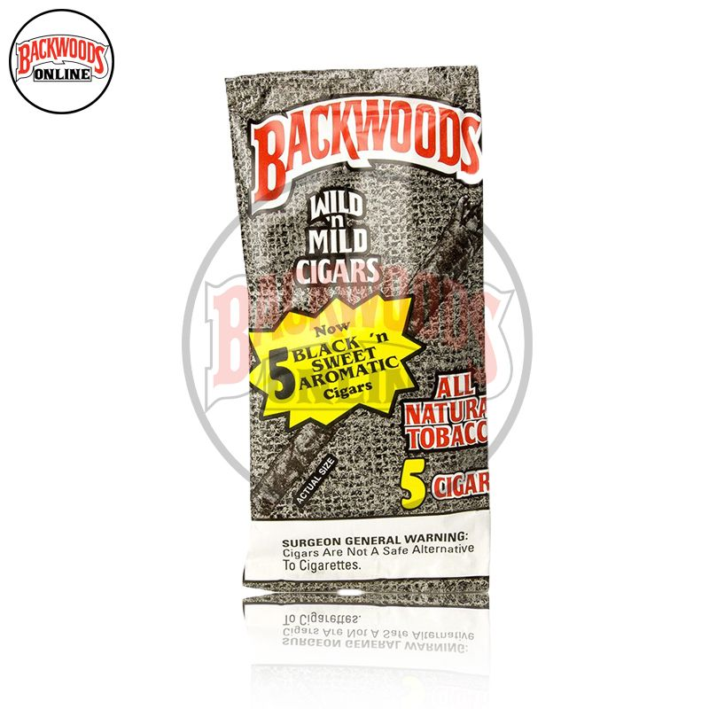Backwoods Black N' Sweet Aromatic Mild cigars, Backwoods