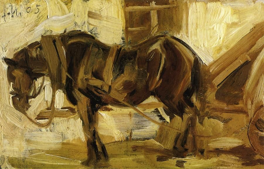 Image detail for -Small Horse Study - Franz Marc - WikiPaintings.org