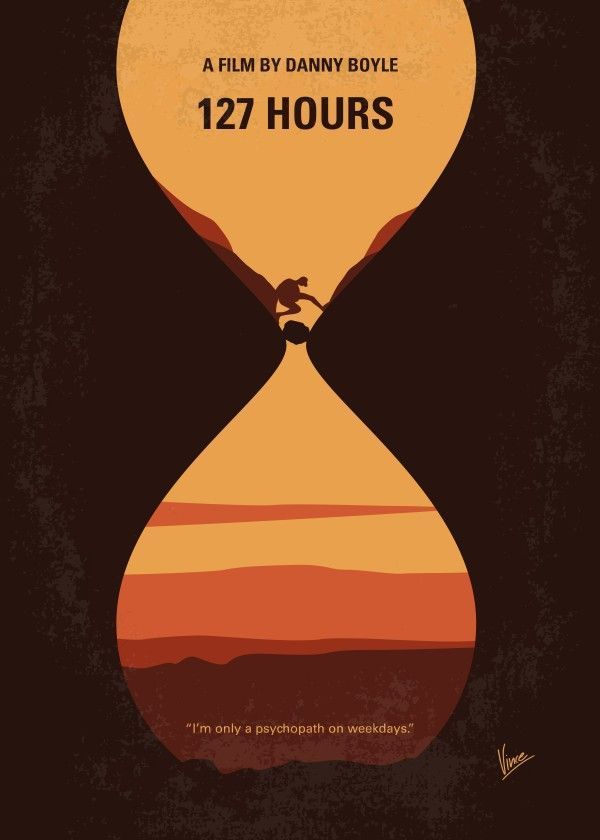 No719 My 127 Hours minimal mov... Movies Poster Print | metal posters - Displate
