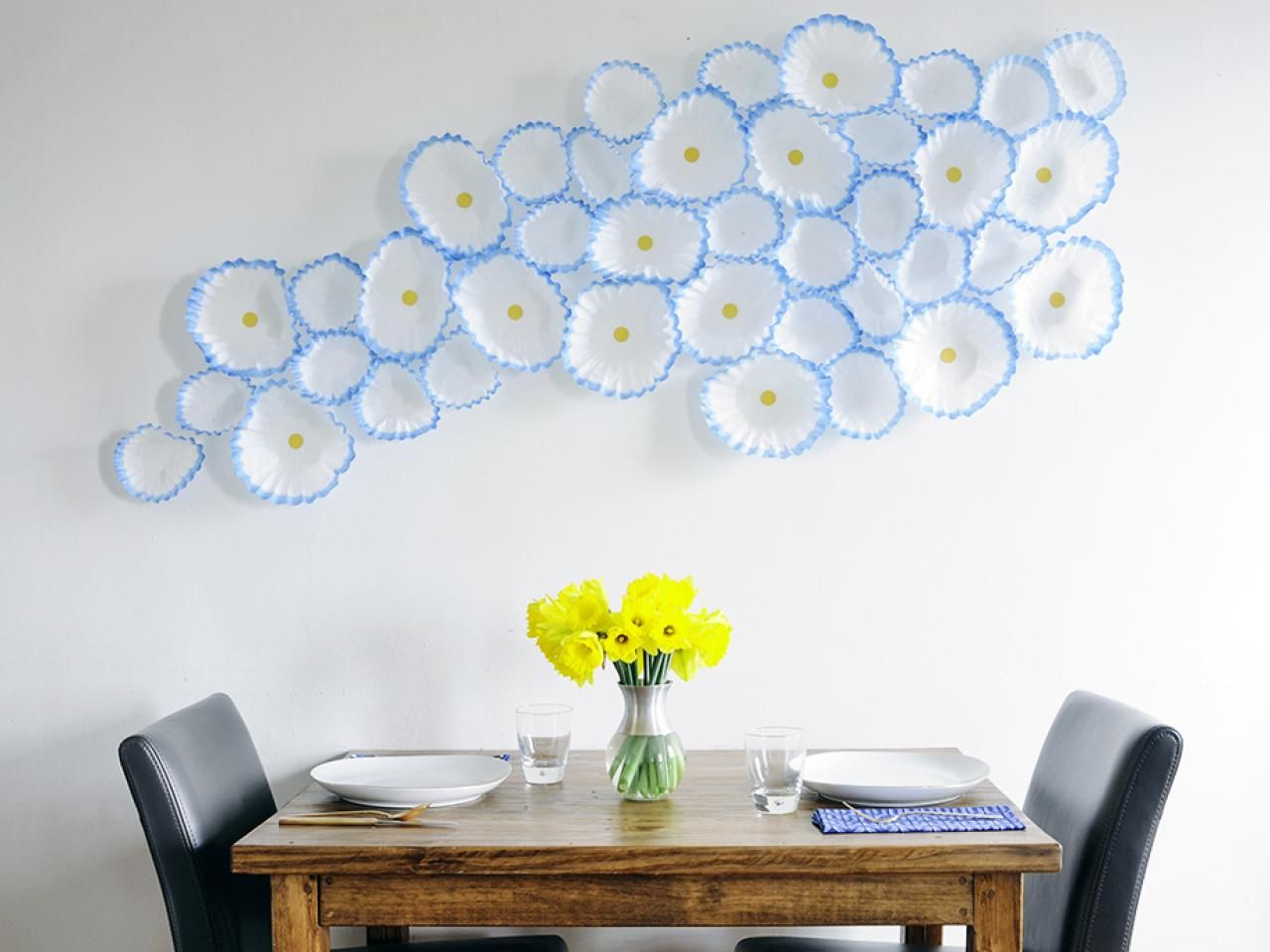How To Make Floral Wall Art With Coffee Filters