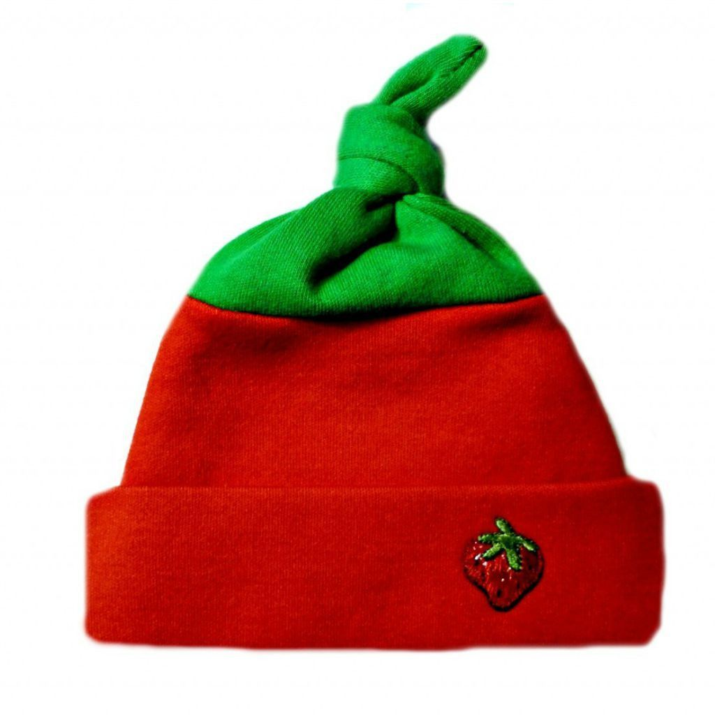 91171e3b063 Unisex Baby Strawberry Knotted Hat! Adorable Newborn and Preemie Hats! 5  Sizes for Premature Babies