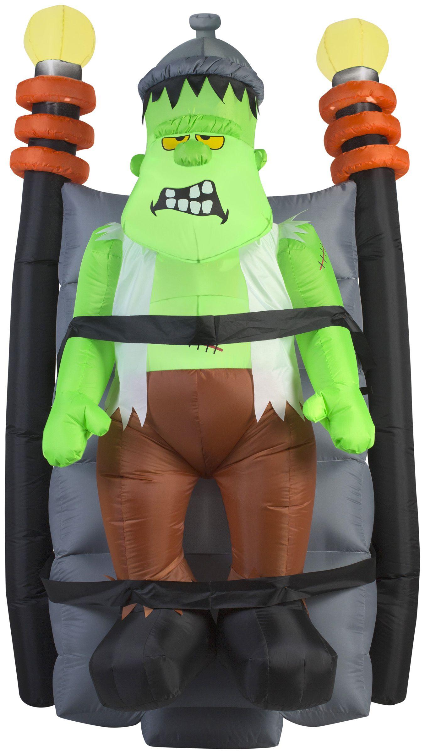 6 foot short circuit shaking monster halloween inflatable