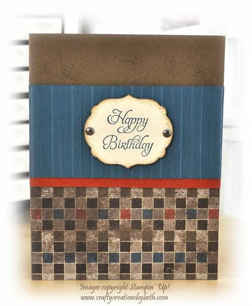 I'm always on the hunt for masculine birthday card ideas