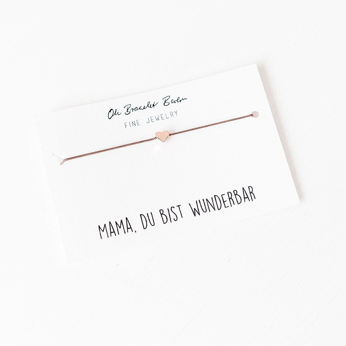 Oh Bracelet Berlin Nylonarmband Mama Du Bist Wunderbar Selekkt Heim Fur Junges Design Du Bist Wunderbar Geschenke Zum Geburtstag Tolle Geschenke