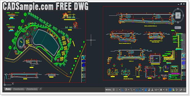 Swimming Pool FREE DWG