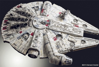 This Breathtaking Model Of The Millennium Falcon Took Four Years To Make Millennium Falcon Star Wars Ships Millennium Falcon Model