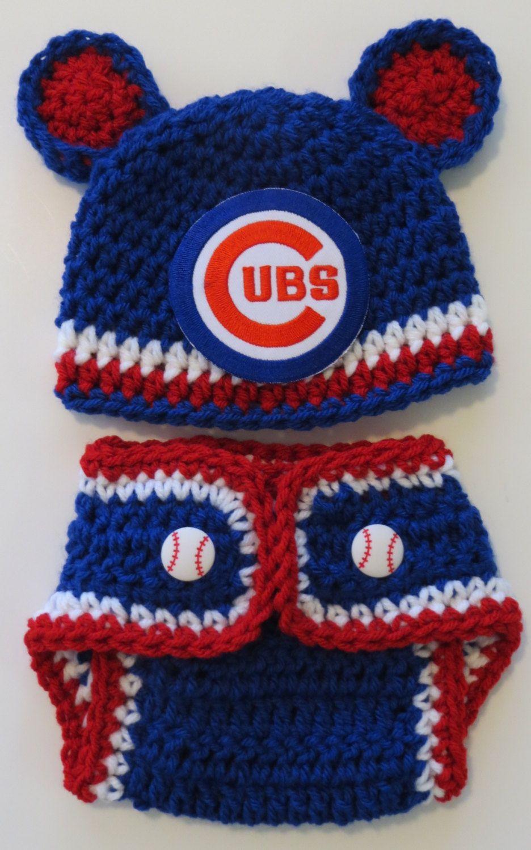 1b43a5dca4f CUBS Baseball Crochet Hat