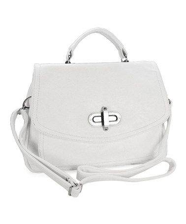 Another great find on #zulily! White Jasmine Crossbody Bag by d'Orcia #zulilyfinds