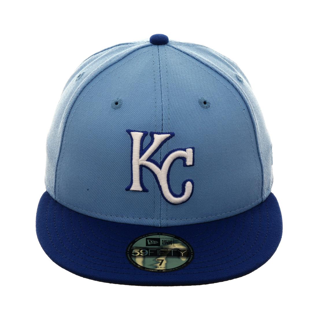 buy popular 0d1ac ef166 Exclusive New Era 59Fifty Kansas City Royals Hat - 2T Light Blue , Royal