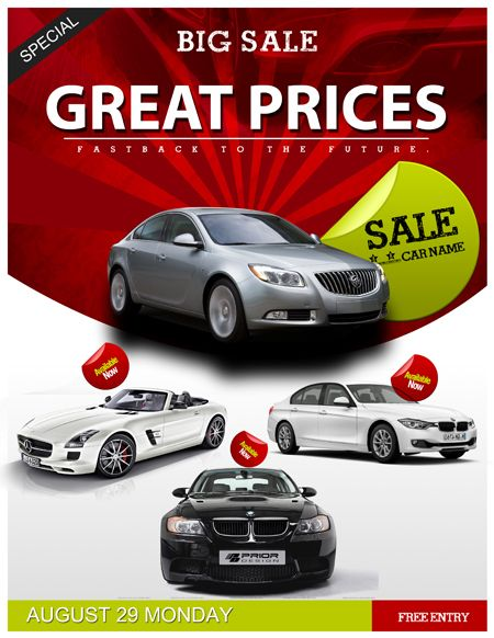 Auto Sales Flyer Template Car Sales PSD Flyer Template - Trendy