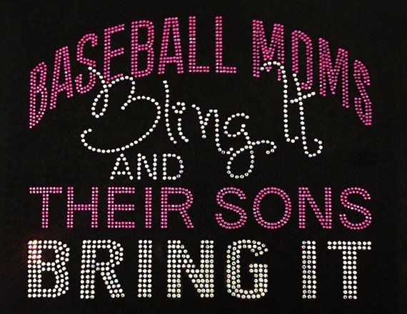 BASEBALL Moms Bling It  Rhinestone by BlingThingsWholesale on Etsy, $12.00