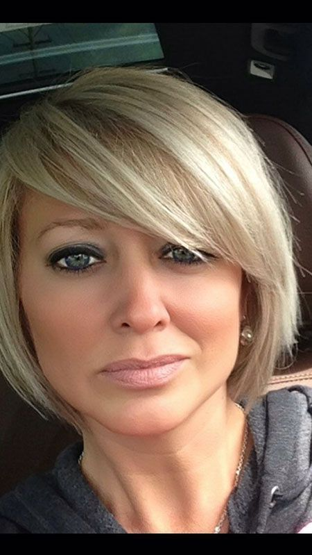 Short Bob Hairstyles For Round Faces Hairstyles Colors