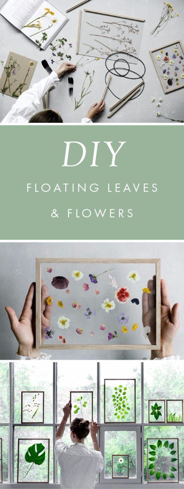 DIY Geschenk fürs Büro – DIY schwebende Blätter und Blumen – DIY Geschenkideen für … - Diyprojectsgarden.cf #giftsforcoworkers