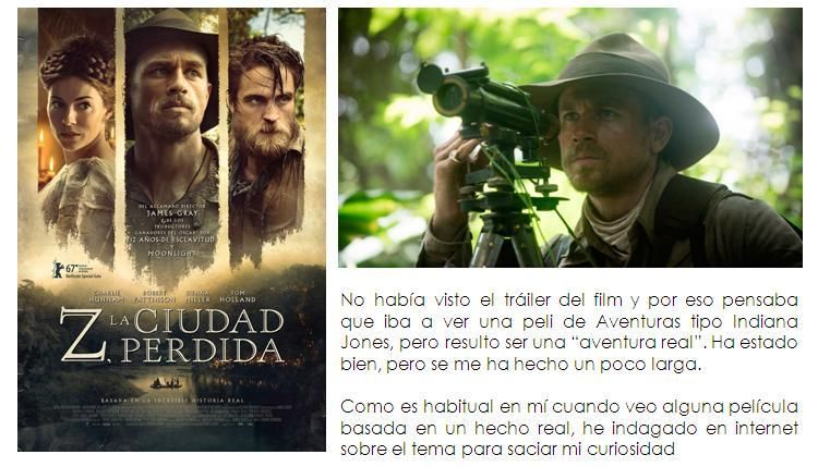 Z La Ciudad Perdida 2017 9 Ciudad Perdida Cine Me Perdiste