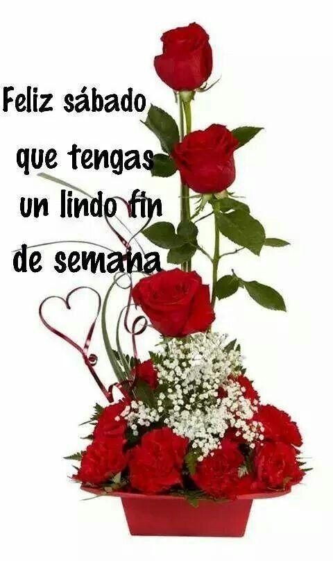 Feliz sábado que tenga un lindo fin de semana | Arreglos florales  sencillos, Arreglos florales creativos, Bellos arreglos florales