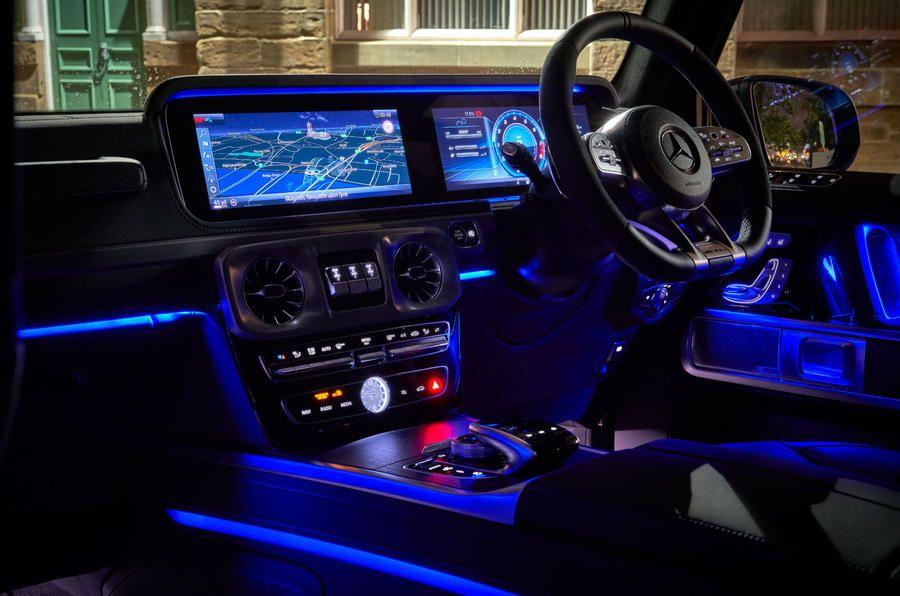 Mercedes Amg G Class G63 2018 Uk Review Autocar Mercedes Benz Suv Mercedes G Wagon Interior Mercedes Benz Interior