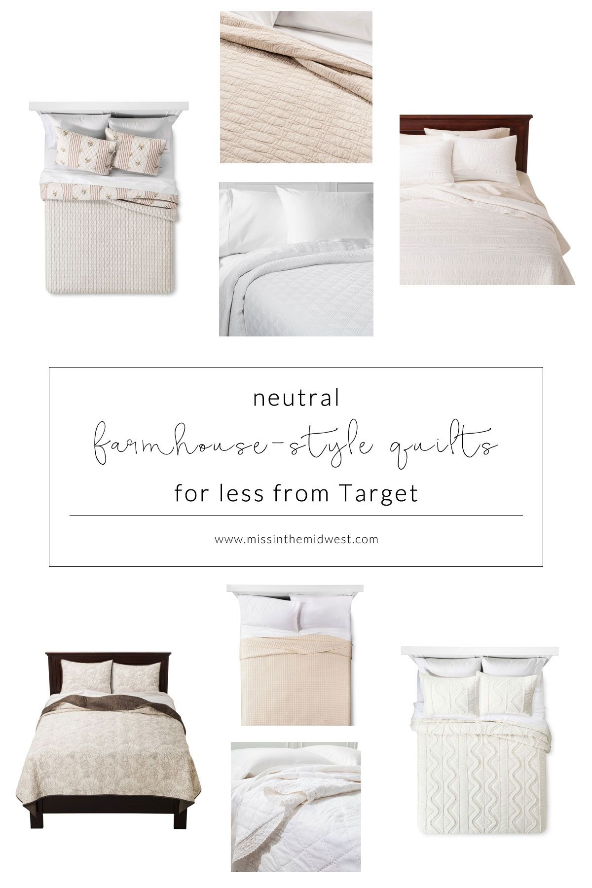 8 neutral farmhousestyle quilts for less from target