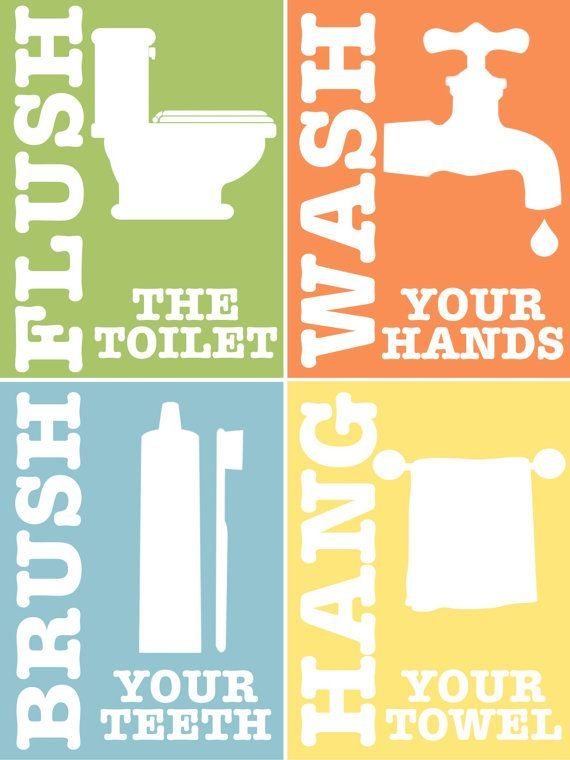 image result for free printable bathroom rules for kids