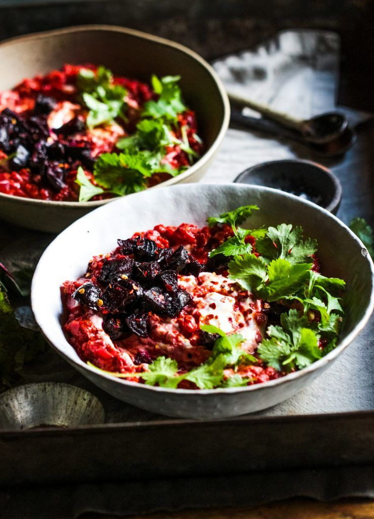 Beetroot Dal with Roast Beetroot and Gram Flour Flatbreads - Rebel Recipes