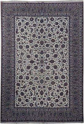 8x12 High Quality Wool Silk Authentic Iran Esfahan Rug