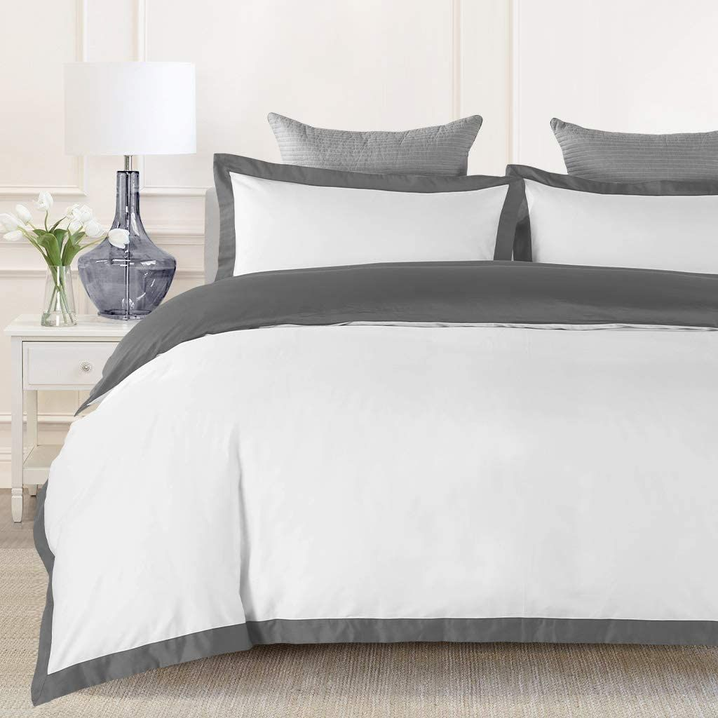 Johnpey Duvet Cover Queen 1000tc Egyptian Cotton Comforter Cover Set Bedding Set In 2020 Queen Duvet Covers King Duvet Cover White Leather Bed