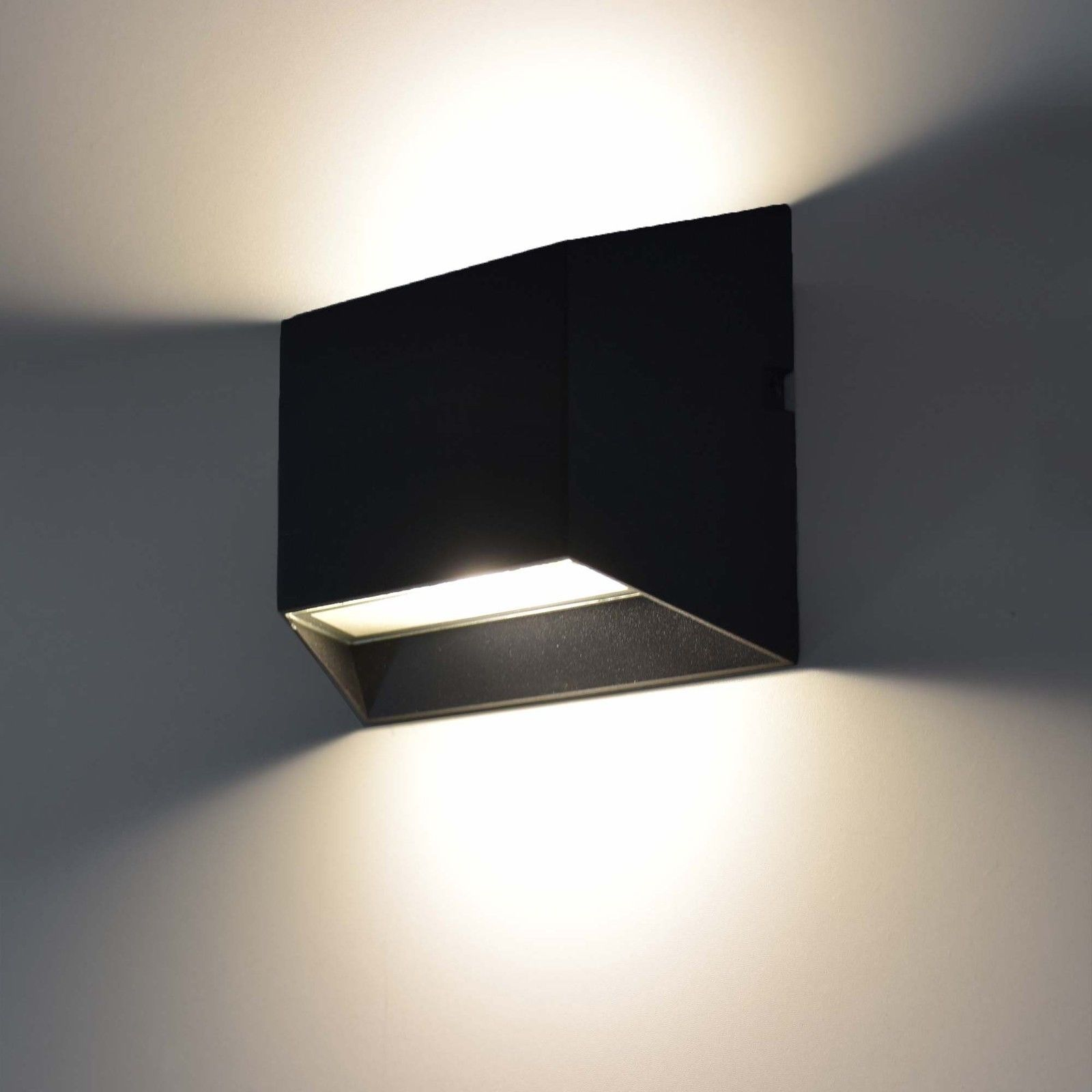 Moderne Led Aussenleuchte Wandleuchte Aussenlampe Up Down Lampe Leuchte Schwarz Ebay Led Wandleuchte Aussen Aussenlampe Wandleuchte