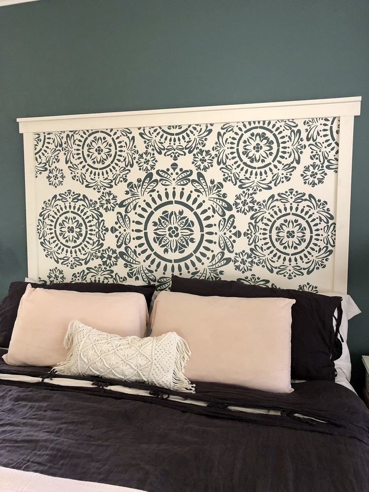 How To Build A Faux Hand Carved Wood Headboard Diy Faux Headboard Wood Headboard Diy Wood Headboard