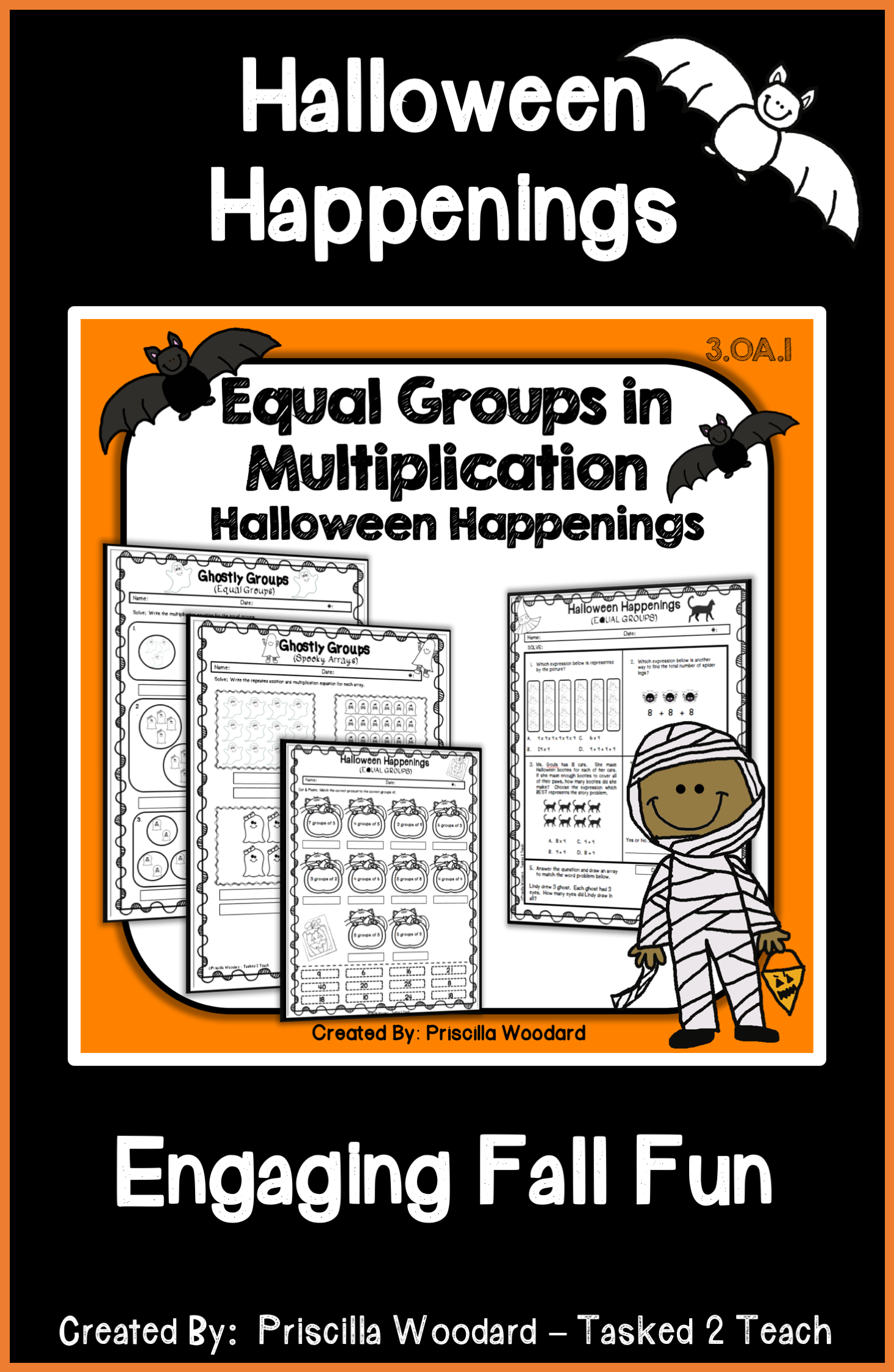 Equal Groups In Multiplication 3rd Grade Halloween