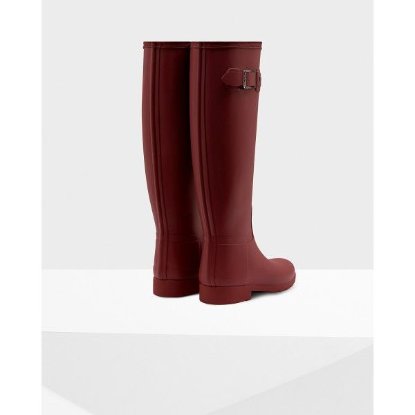 Hunter Women's Original Refined Rain Boots Damson - Hunter Boots ...