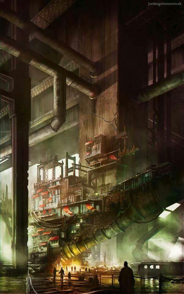 Midgar Slums by Jordan Grimmer