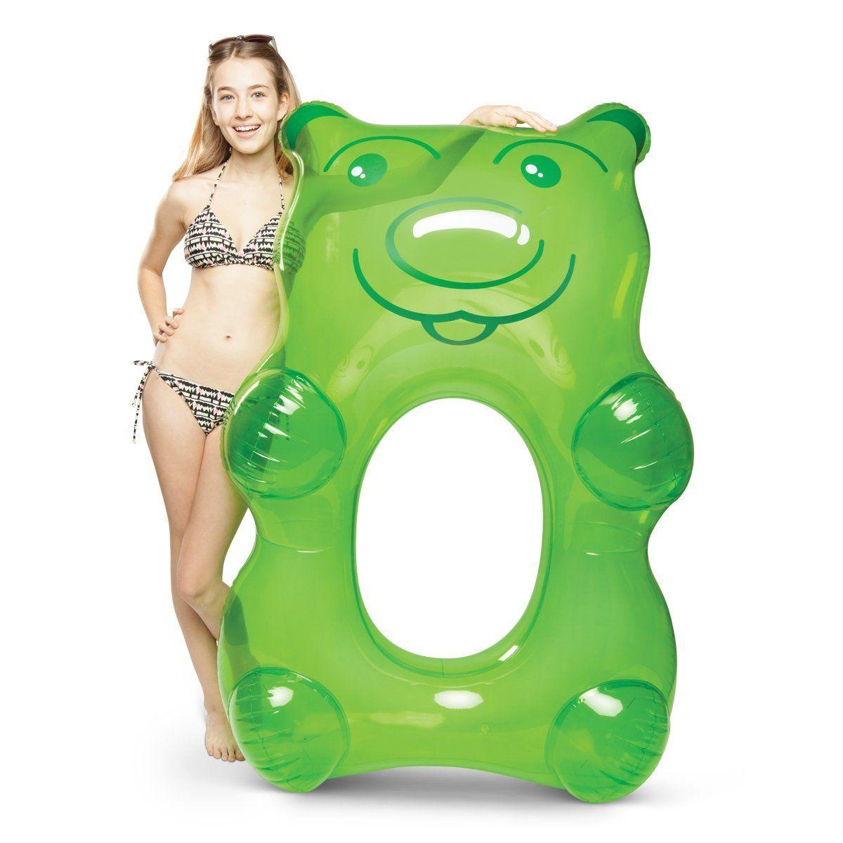 Amazon.com: BigMouth Inc. Giant Green Gummy Bear Pool Float!: Toys ...