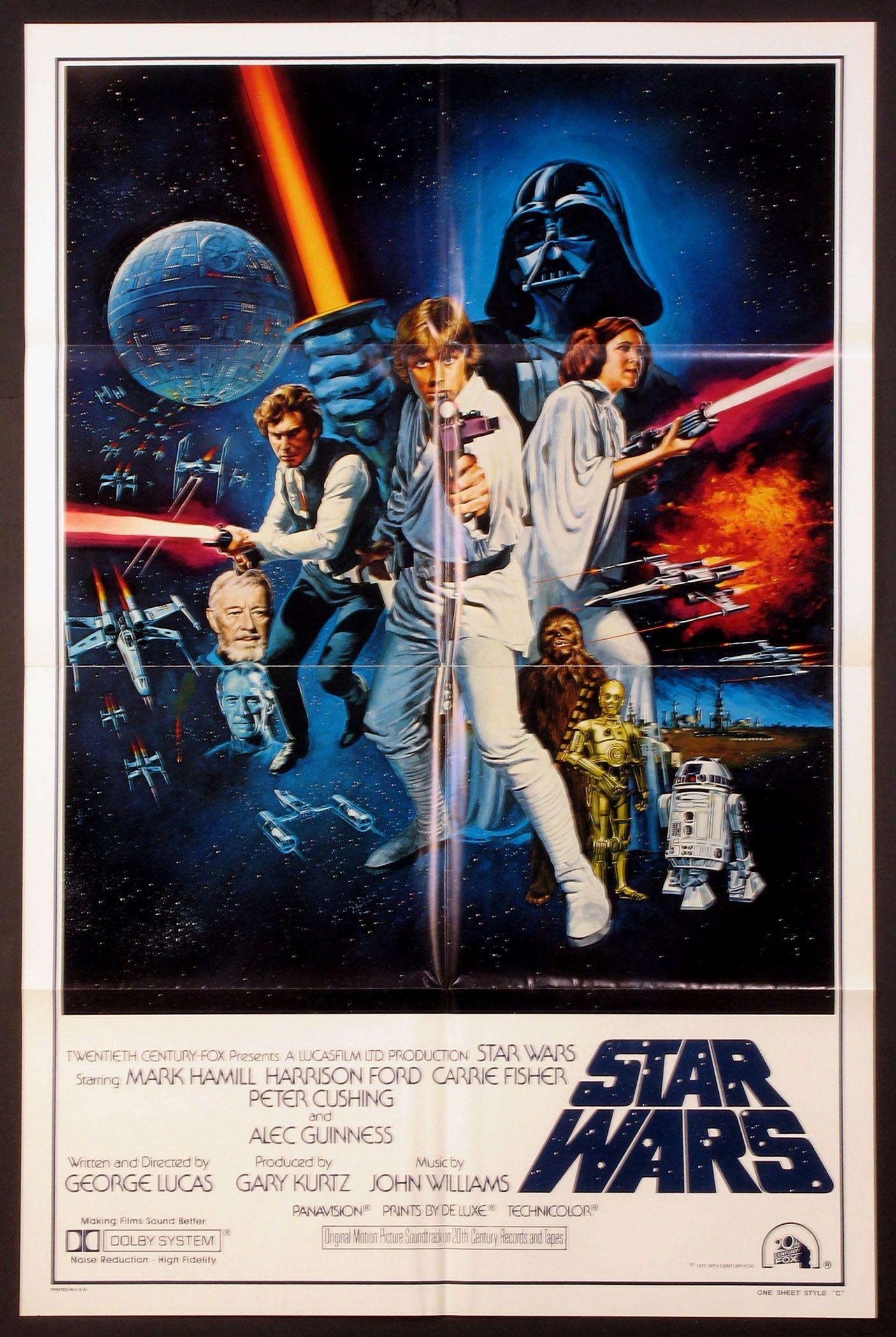 star wars 1977 original one sheet