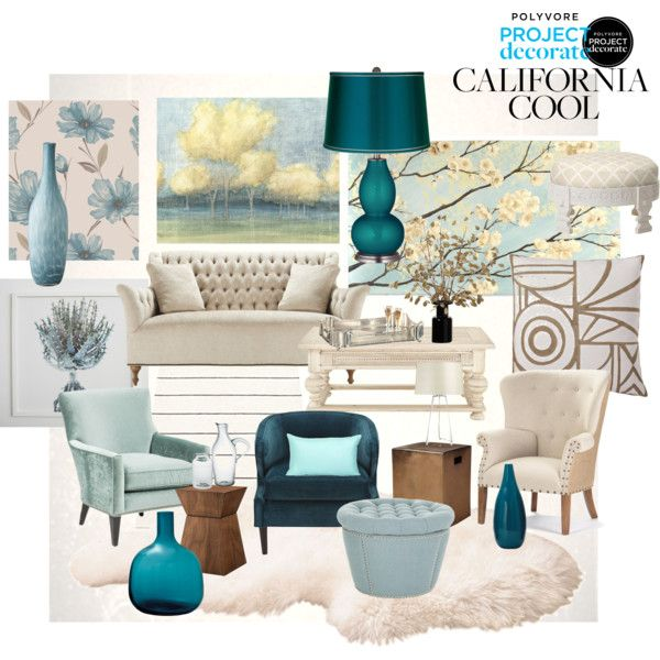 Gray And Teal Living Room By Jurzychic On Polyvore: Project Decorate CA Cool