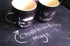 Amazing, chalk board mugs..
