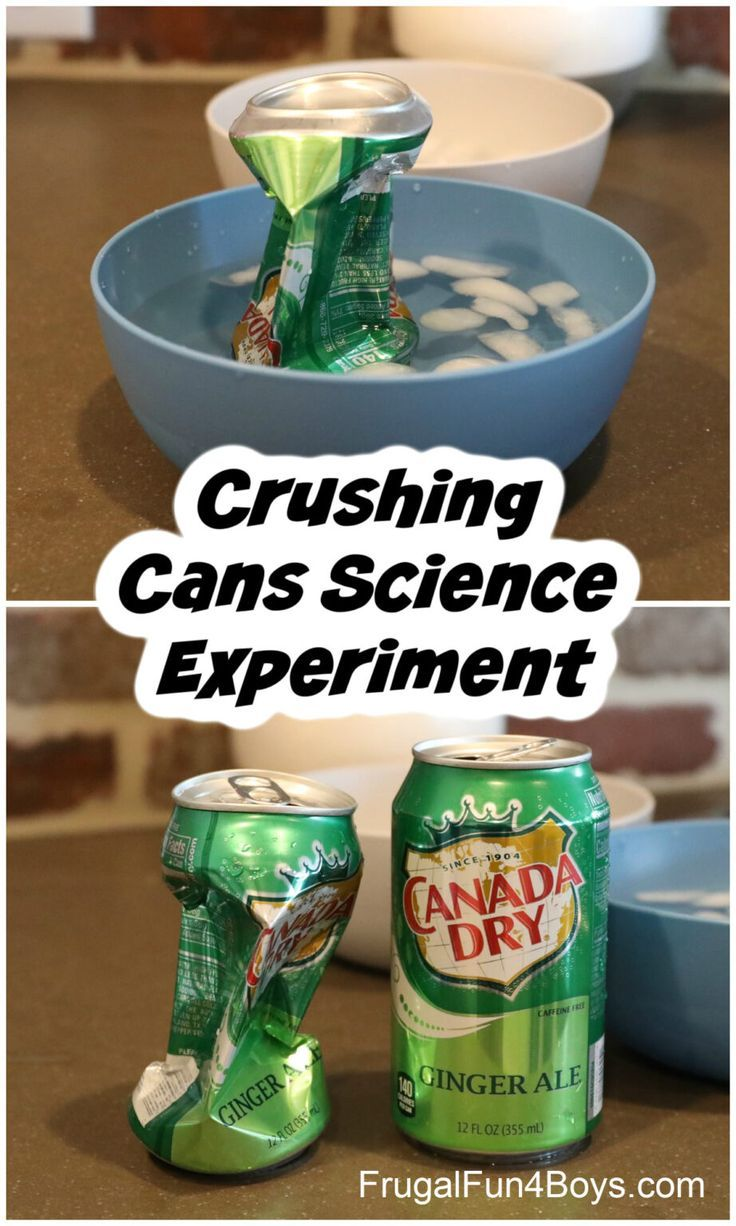 Crushing Cans Science Experiment - Frugal Fun For Boys and Girls   Science experiments, Science expe