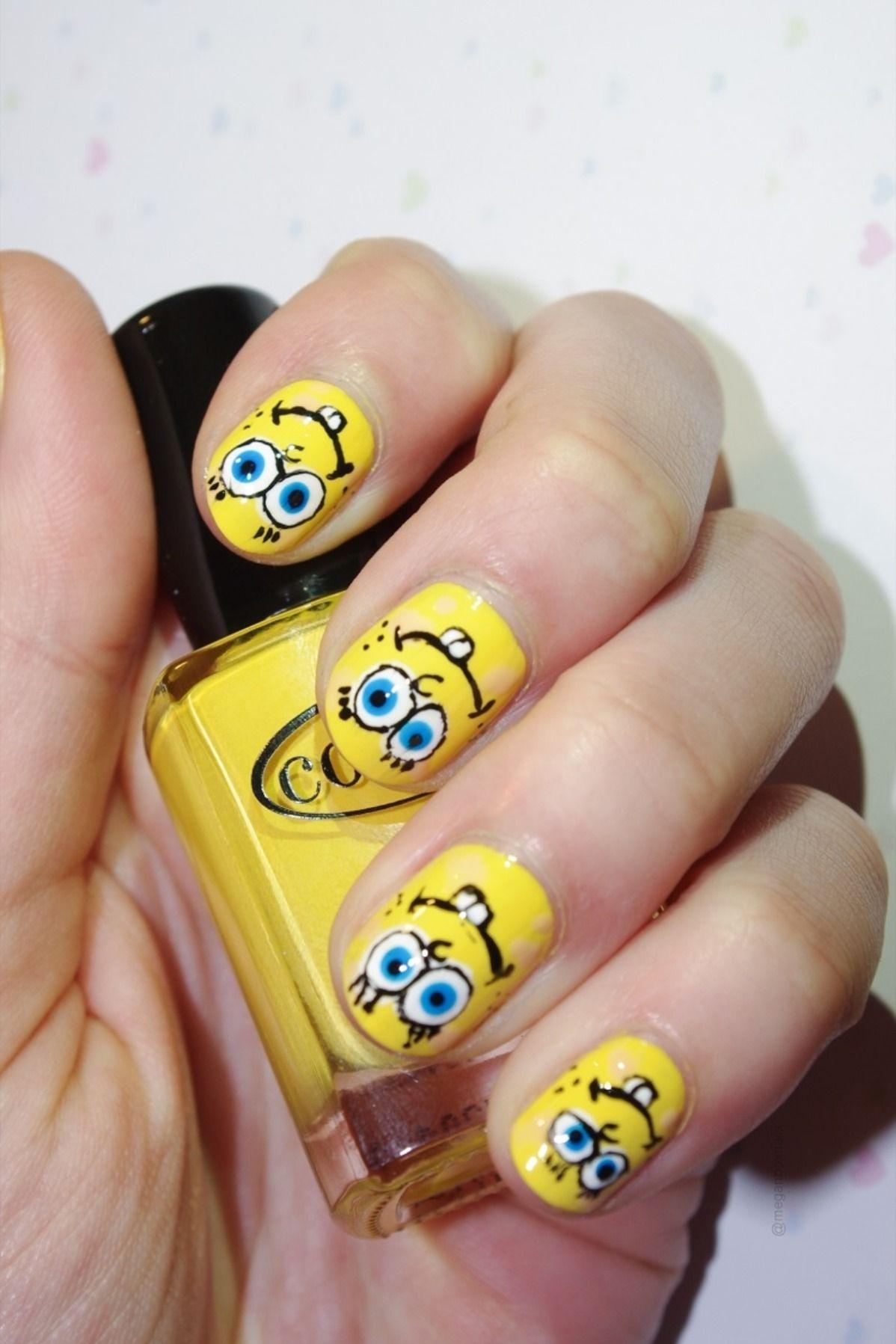 Spongebob Manicure Manicure Swag Nails Gel Nails