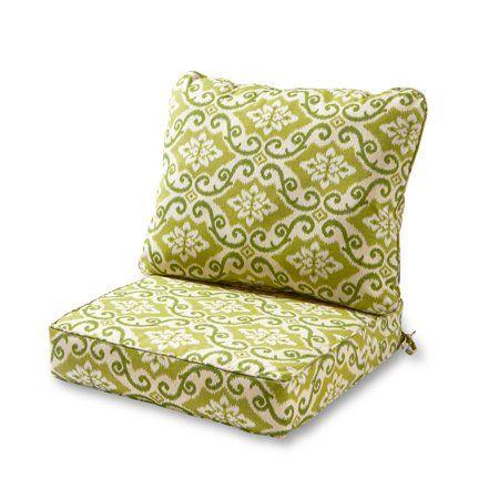 Greendale Home Fashions Shoreham Outdoor Deep Seat Cushion Set Walmart Com Deep Seat Cushions Patio Chair Cushions Outdoor Deep Seat Cushions