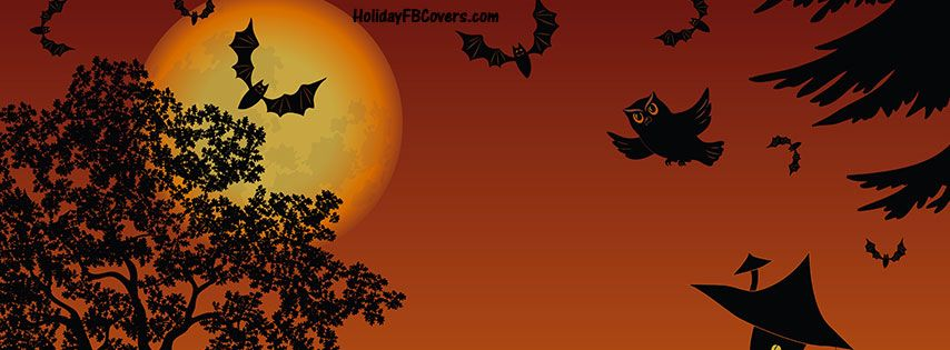 Lovely October Night Halloween Facebook Cover HolidayFBCovers.com