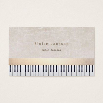 Pianist Music Piano Business Card Foil Leaf Gift Idea Special