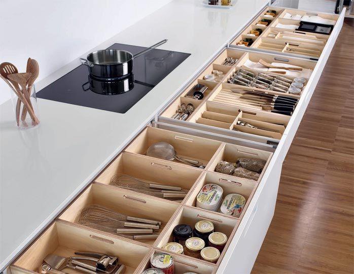 Organizar los elementos de uso frecuente mueble bajo de 81 for Organizar cajones cocina